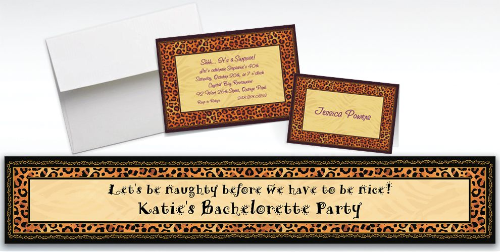 Custom Safari Chic Invitations and Thank You Notes