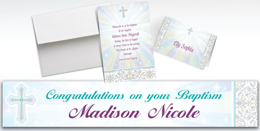 Custom Joyous Celebration Invitations and Thank You Notes