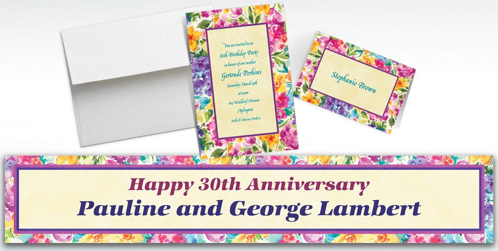 Custom Floral Impressions Invitations and Thank You Notes