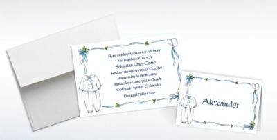Custom Baptism Invitations Thank You Notes Party City