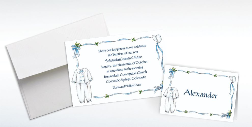 Custom Baptism Invitations and Thank You Notes