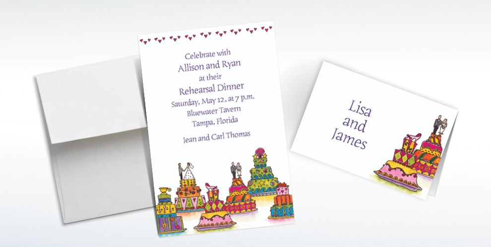 Custom Wacky Wedding Cakes Wedding Invitations and Thank You Notes