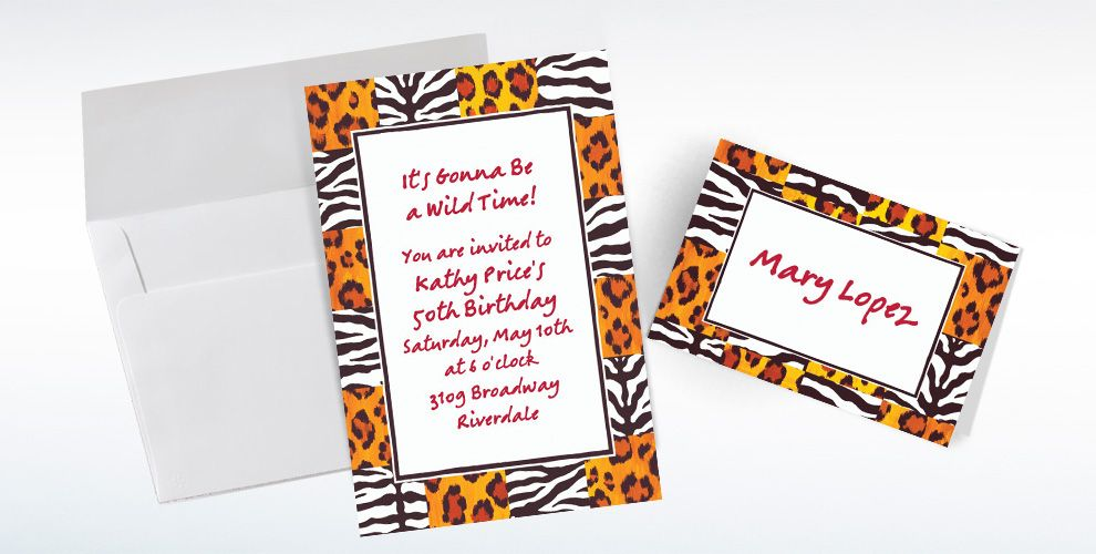 Custom Wild Things Checks Invitations and Thank You Notes