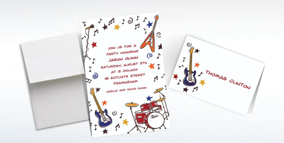 Custom 60s Theme Party Invitations and Thank You Notes