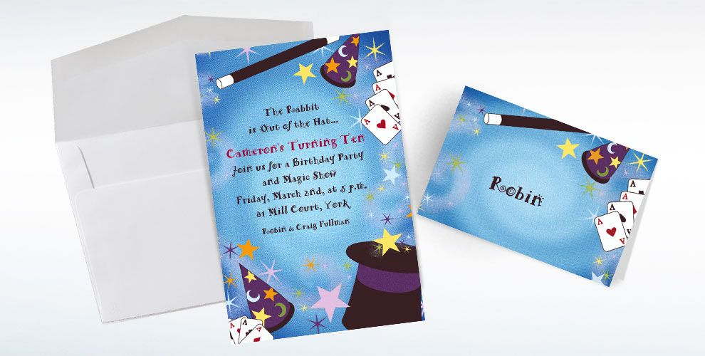 Custom Magic Show Invitations & Thank You Notes | Party City
