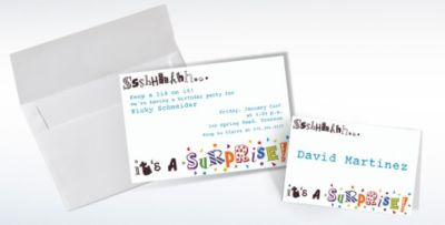 Custom Sshhh Surprise Party Invitations Thank You Notes Party