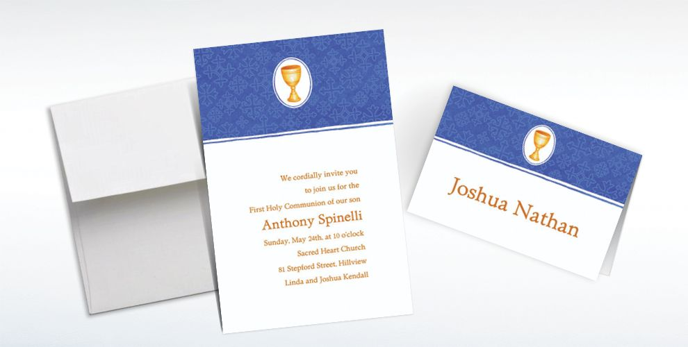 Custom Mod Chalice Invitations and Thank You Notes