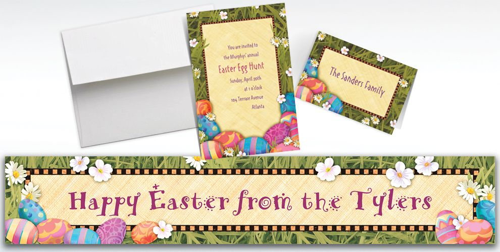 Custom Easter Elegance Invitations and Thank You Notes