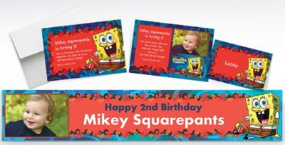 Custom SpongeBob Simply Invitations Thank You Notes Banners