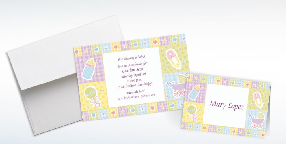 Custom Baby's Nursery Baby Shower Invitations and Thank You Notes