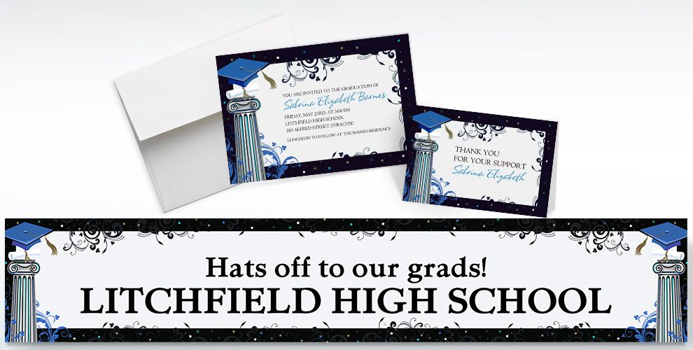Custom Dean's List Graduation Invitations and Thank You Notes