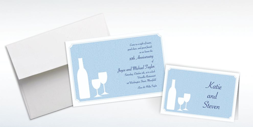 Custom Vino for Two Invitations and Thank You Notes