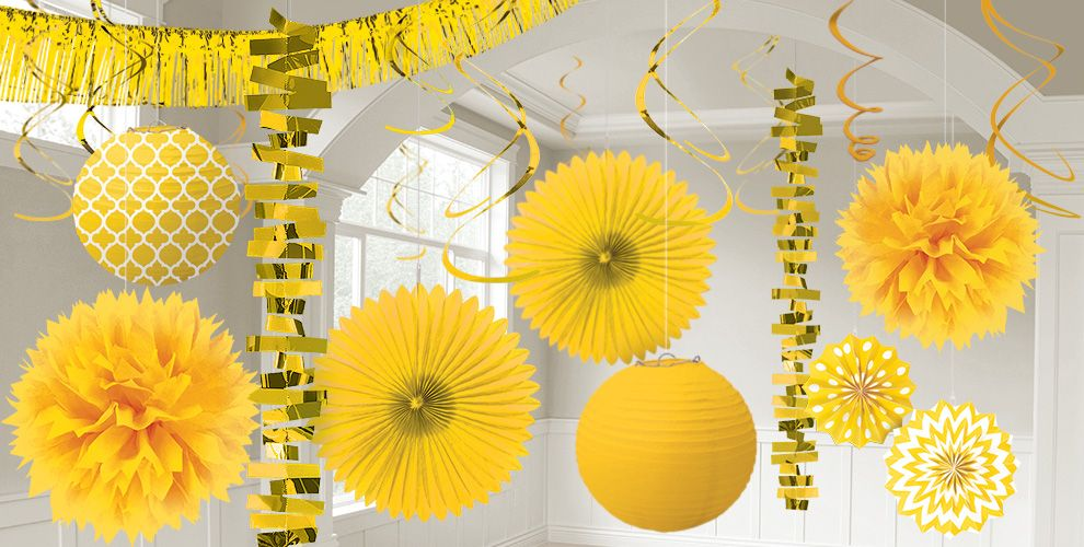 Sunshine Yellow Decorations - Sunshine Yellow Balloons, Banners ...