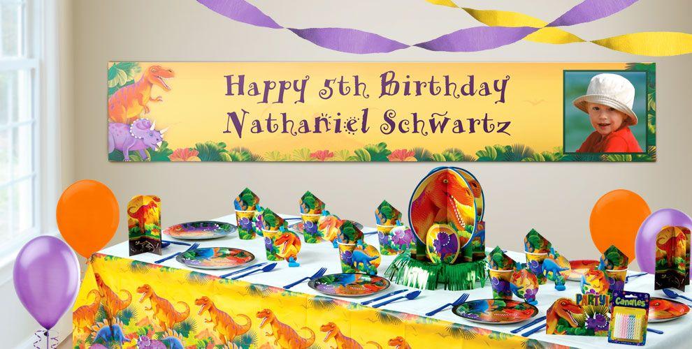 Custom Dinosaurs Birthday Banners