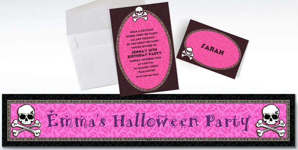 Custom Pretty in Pink Invitations and Thank You Notes