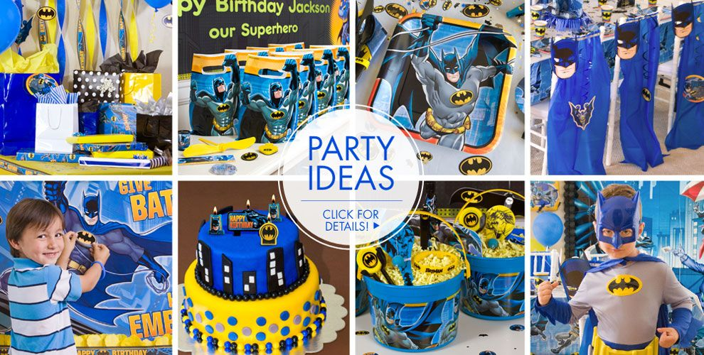 Batman Party Supplies - Batman Birthday Ideas | Party City