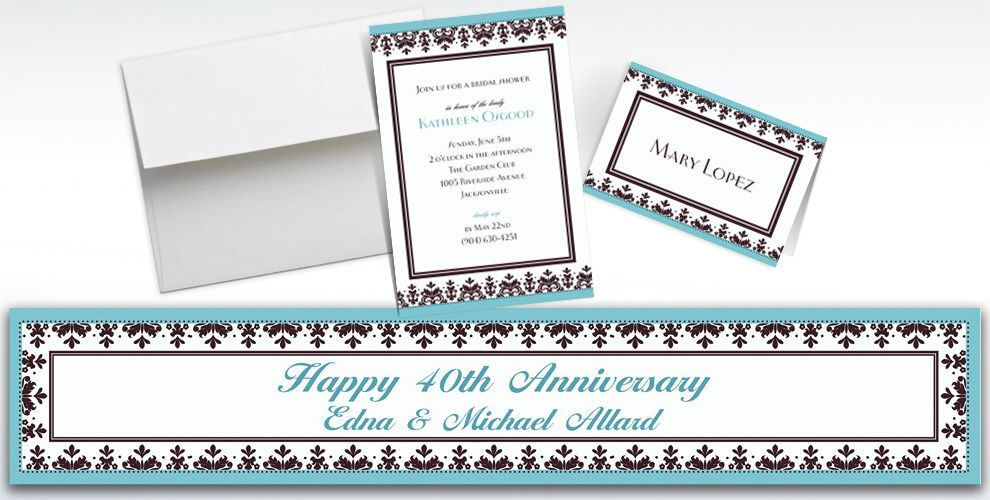 Custom Always and Forever Wedding Invitations and Thank You Notes