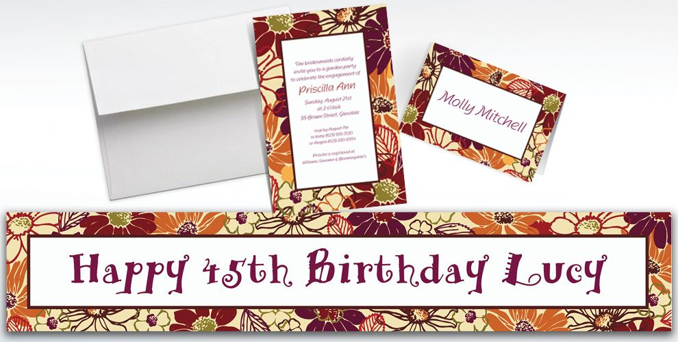 Custom Nature's Imprint Invitations and Thank You Notes