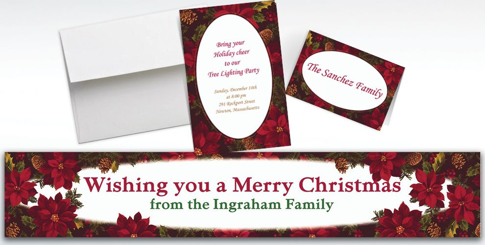 Custom Holiday Enchantment Invitations and Thank You Notes