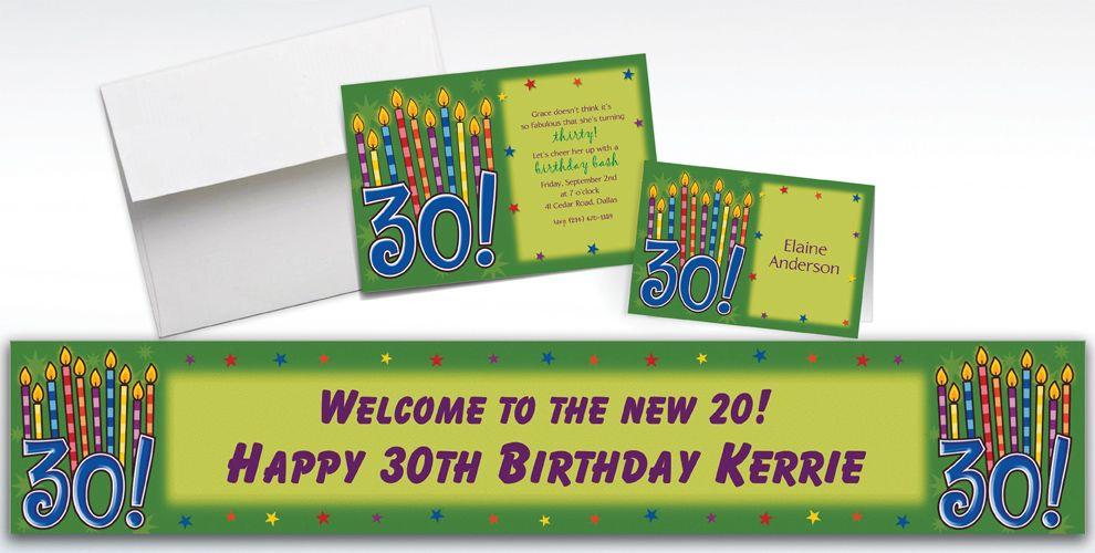 Custom Great Birthday 30th Birthday Invitations