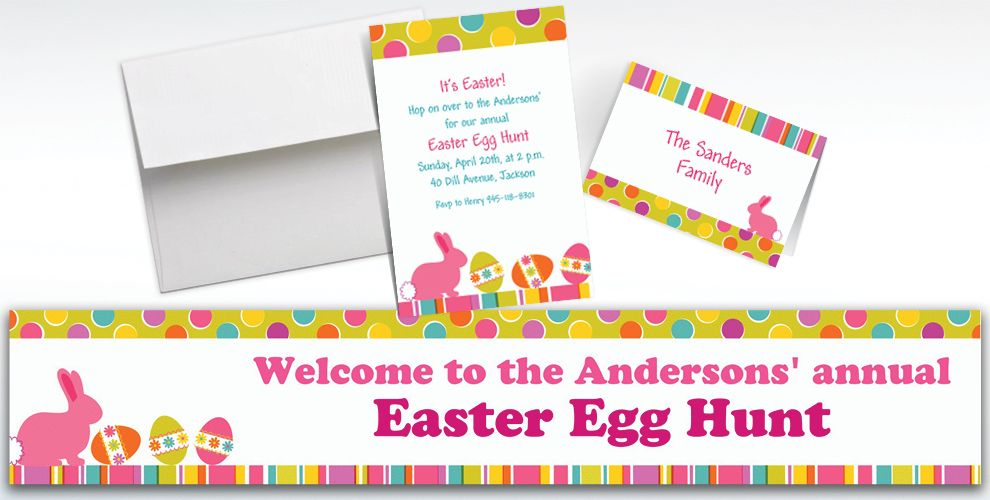 Custom Easter Expressions Invitations and Thank You Notes