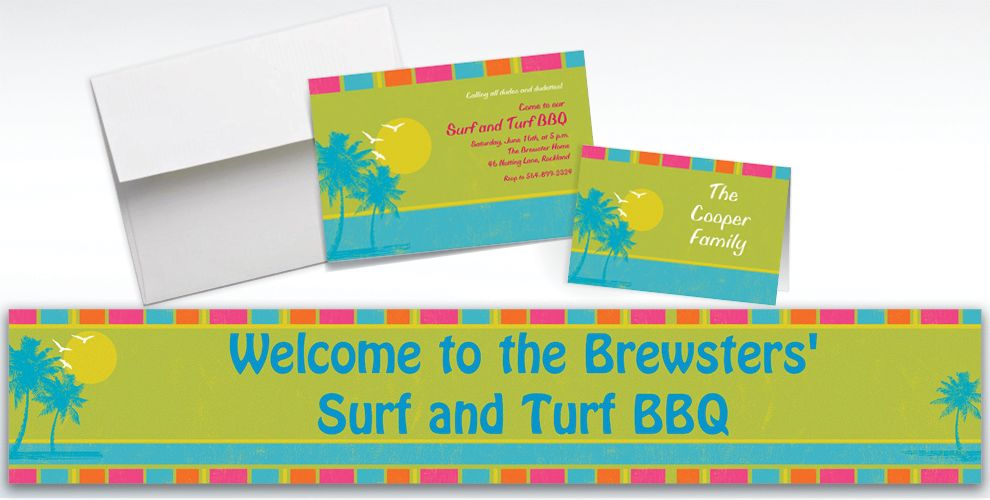 Custom Summer Dreams Invitations and Thank You Notes