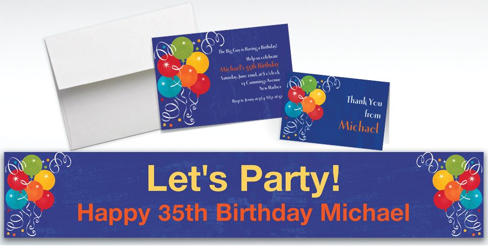 Custom Birthday Fever Invitations and Thank You Notes