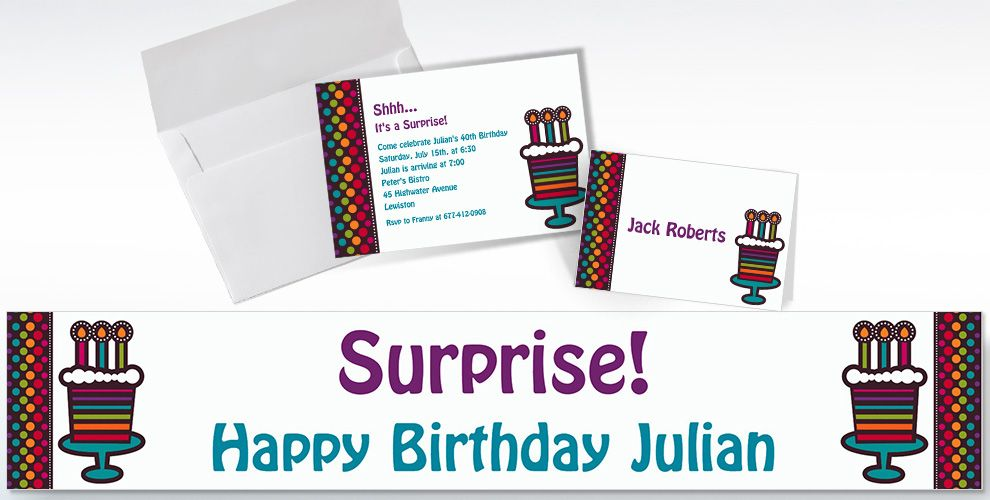 Custom Party On Celebration Invitations and Thank You Notes