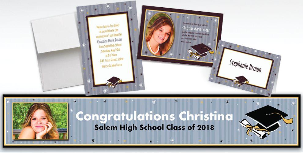 Custom Grad Honors Invitations and Thank You Notes