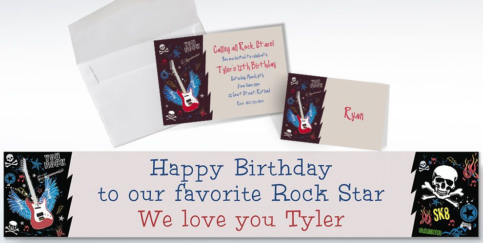 Custom Party Rock Invitations and Thank You Notes