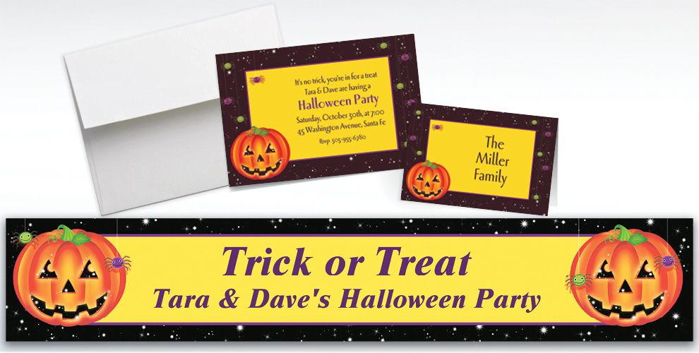 Custom Perfect Pumpkin Halloween Invitations and Thank You Notes