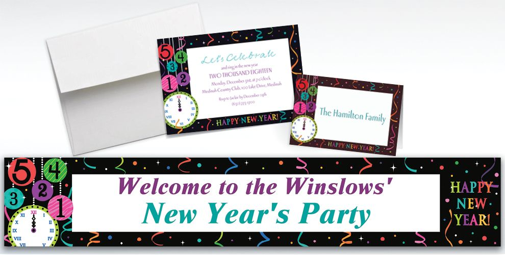 Custom Wild New Year Invitations and Thank You Notes