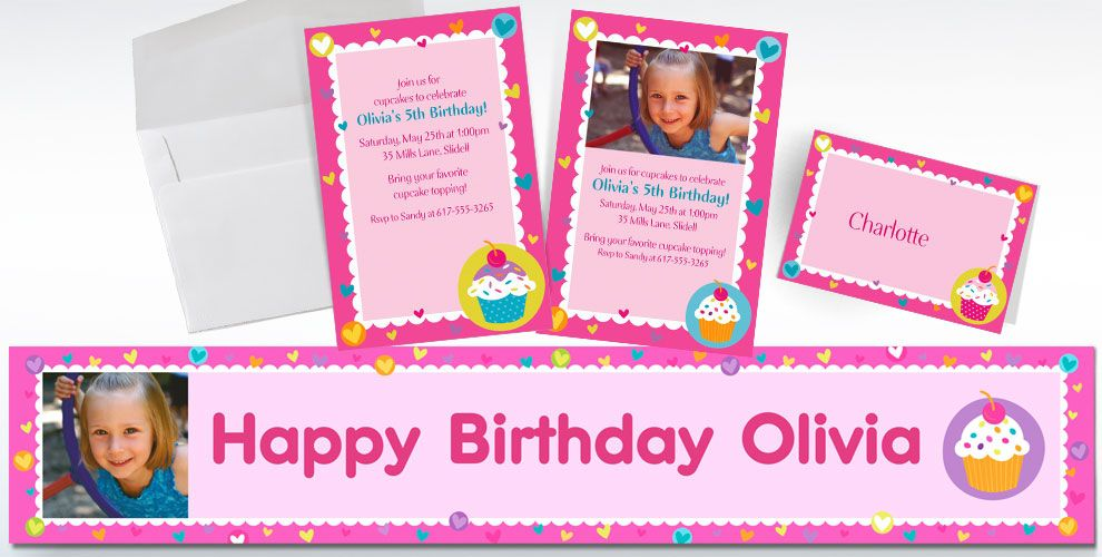 Custom Cupcake Party Invitations & Thank You Notes | Party City