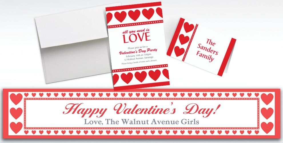Custom Sweet Love Invitations and Thank You Notes