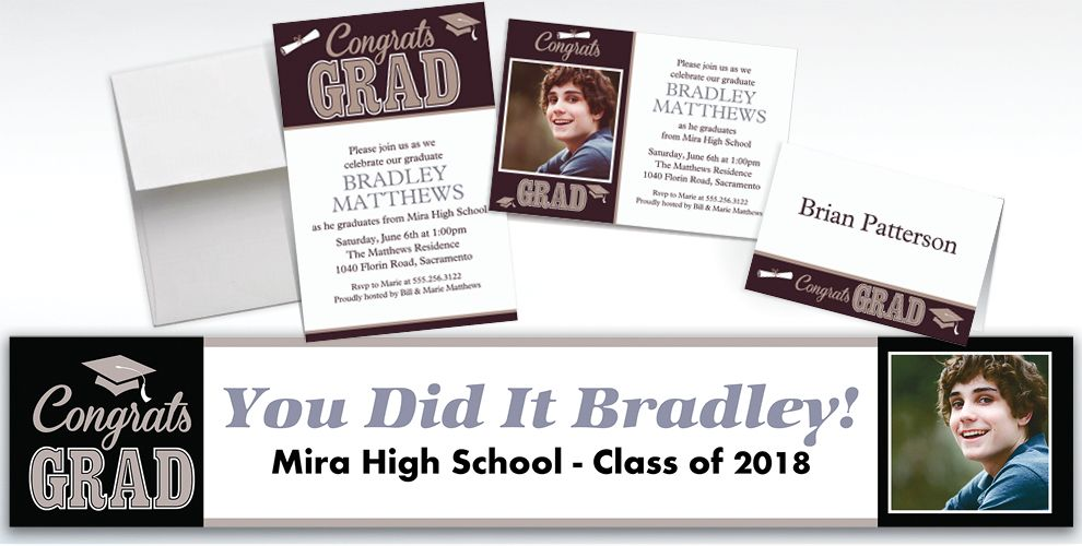 Custom Graduating Class Invitations and Thank You Notes
