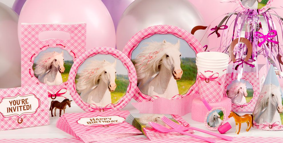 Heart My Horse Party Supplies - Horse Birthday Decorations | Party ...
