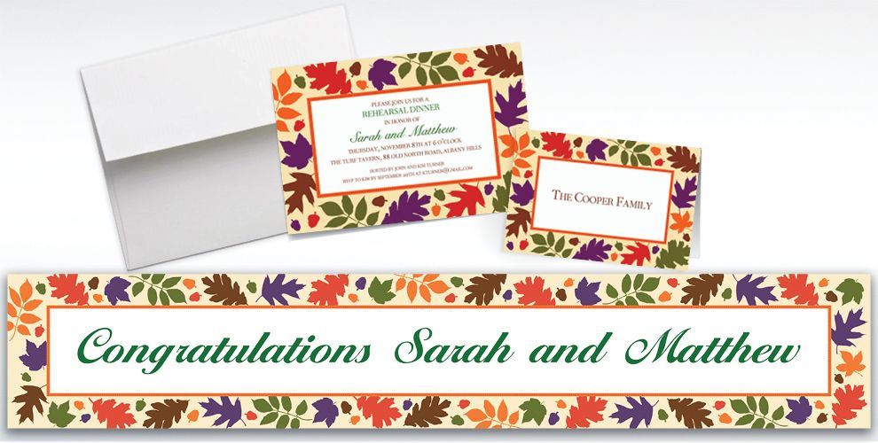 Custom Autumn Warmth Invitations and Thank You Notes
