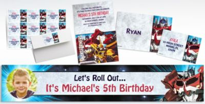 Custom Transformers Invitations Thank You Notes Party City