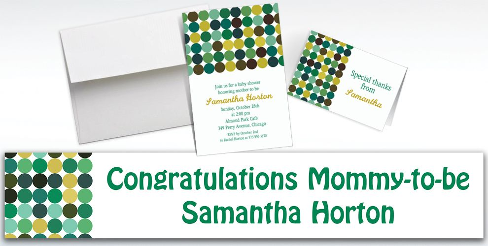 Custom Dotty Cool Invitations and Thank You Notes