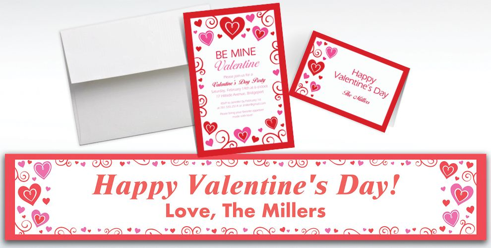 Custom Valentine Fun Invitations and Thank You Notes