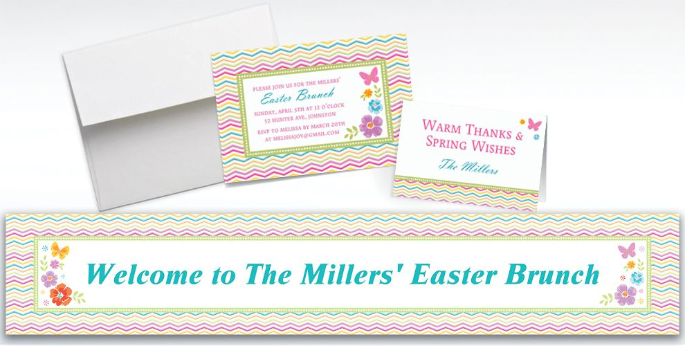 Custom Celebrate Spring Invitations and Thank You Notes