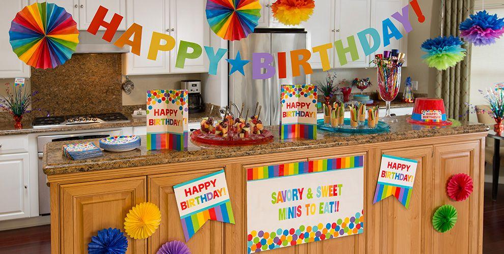 Rainbow Birthday Party Supplies