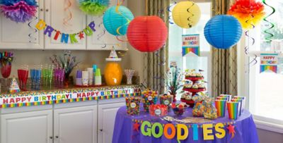 Good Party Decoration Part - 5: Rainbow Birthday Party Supplies ...