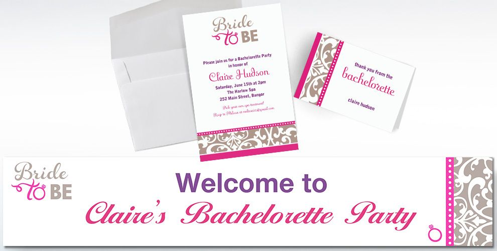 Custom Classic Bride Invitations and Thank You Notes
