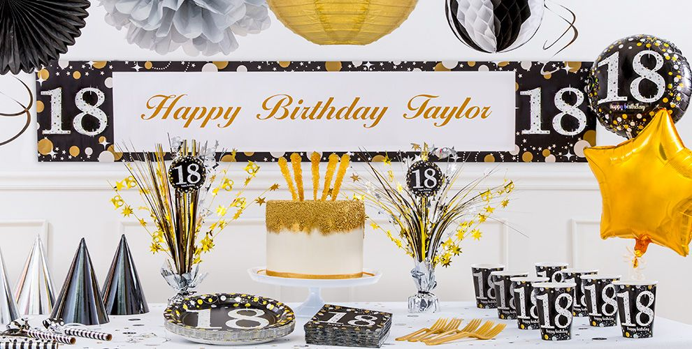 Sparkling Celebration 18th Birthday Party Supplies