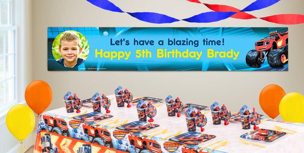 Custom Blaze and the Monster Machines Birthday Banners