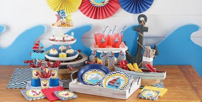 Superior Nautical Theme Party Decorating Ideas Part - 4: Ahoy Nautical 1st Birthday Party Supplies