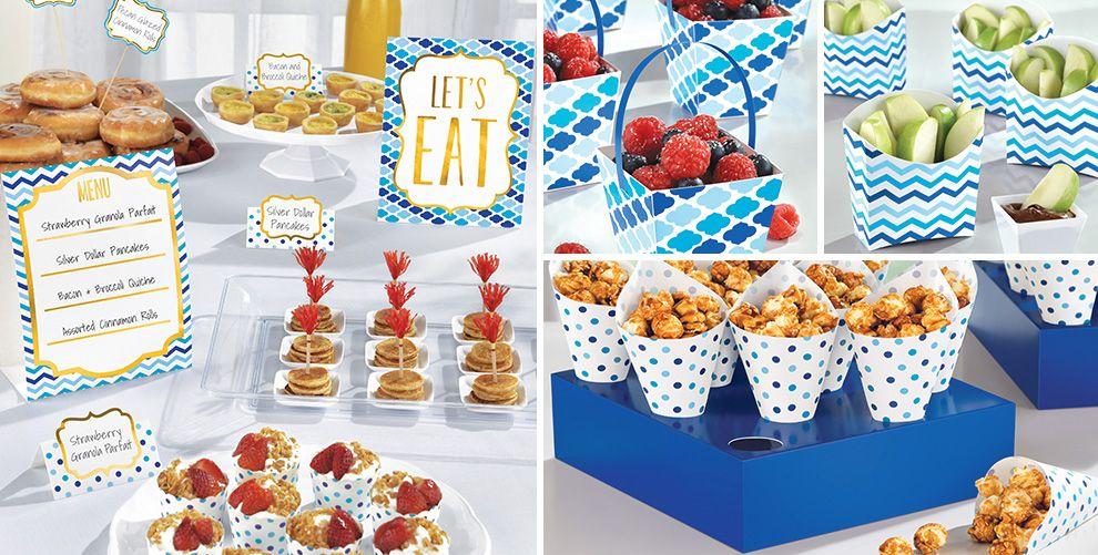 Blue Mini Tasting Party Supplies