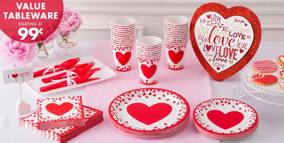 Valentine's Confetti Tableware