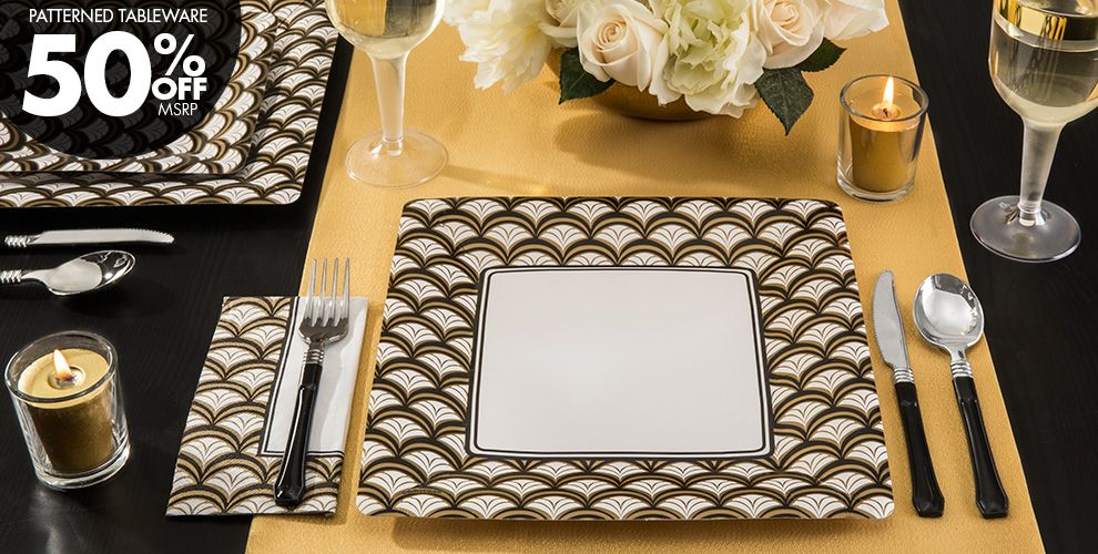 Gold Scalloped Party Supplies
